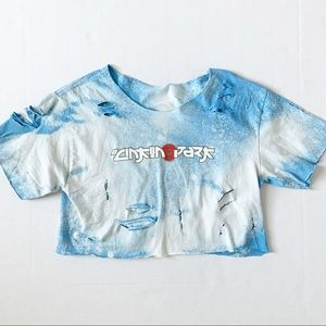 Linkin Park Custom Bleached Cropped Tee